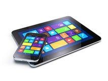 Tabletpc en Mobiel Smartphone Stock Foto