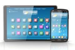 Tabletpc en Smartphone. Concept Royalty-vrije Stock Afbeeldingen