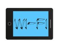 Tabletpc met WiFi-pictogram in vlakke stijl Royalty-vrije Stock Afbeelding