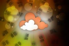 TabletPC på den blåa skyen Royaltyfri Foto