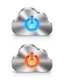 TabletPC på den blåa skyen Fotografering för Bildbyråer