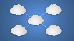 TabletPC på den blåa skyen royaltyfri illustrationer