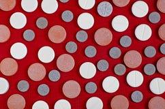 Tablets красная предпосылка стоковые фотографии rf