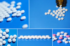 Tablets медицина, пилюльки Стоковое Изображение