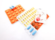 Tablets. Medicine a lot of tablets Royalty Free Stock Image