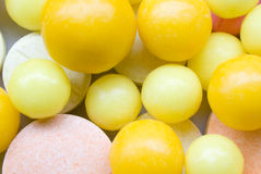 Tablets. Close - up orange tablets of vitamines Royalty Free Stock Photo