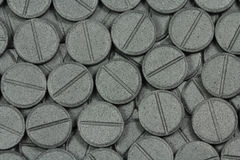 Tablets Activated Carbon Stock Photo