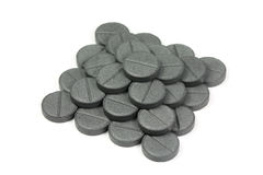 Tablets Activated Carbon Royalty Free Stock Photo