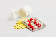 Tablets antibiotics color Stock Image