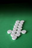 Tablets in arrow formation Royalty Free Stock Image