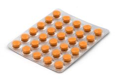 Tablets in the blister pack Stock Photos