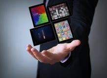 Tablets businessman Stock Photos
