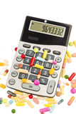 Tablets and calculator Stock Images