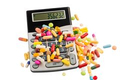 Tablets and calculators Stock Image