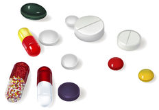 Tablets capsule Stock Photography