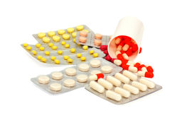 Tablets and  capsules Royalty Free Stock Photos
