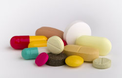 Tablets and capsules Royalty Free Stock Photo