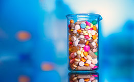 Tablets and capsules Royalty Free Stock Image