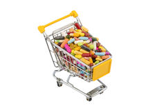 Tablets with cart Stock Photography