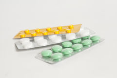 Tablets in den Blisterpackungen Lizenzfreies Stockfoto