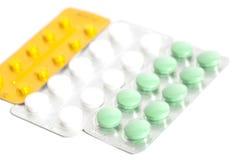 Tablets in den Blisterpackungen Stockbild