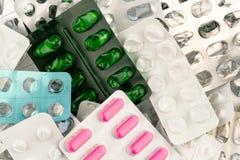 Tablets in der Blisterpackung Lizenzfreie Stockbilder