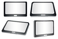 Tablets in Different Views Vector Illustration Stock Photography