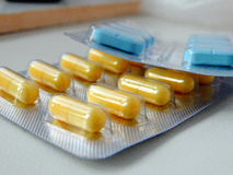 Tablets from the disease Stock Photos
