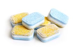 Tablets for dish-washing machine Royalty Free Stock Photo