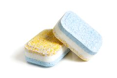 Tablets for dish-washing machine Royalty Free Stock Photos