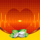 Tablets, ECG and heart Royalty Free Stock Image
