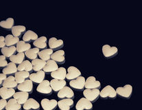 Tablets in the form of heart Royalty Free Stock Photos