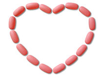 Tablets for heart Royalty Free Stock Image