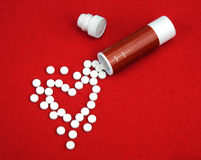 Tablets from heart disease Stock Photography