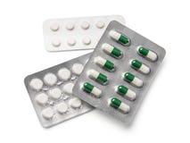 Tablets im Streifen lokalisiert auf Weiß Lizenzfreie Stockbilder