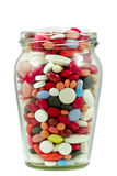 Tablets in the jar Royalty Free Stock Photography
