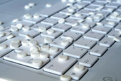 Tablets on the keyboard Stock Photo