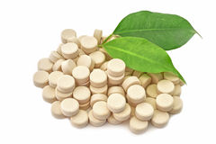 Tablets medicine bio natural Stock Images