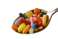 Tablets and medicines to health Royalty Free Stock Photography