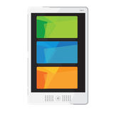 Tablets In New Style colour Orange green blue set Vector Royalty Free Stock Images