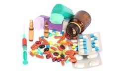 Tablets och pills arkivfoto