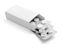 Tablets package medicine Stock Photography