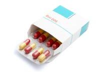 Tablets package medicine Stock Image