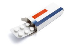 Tablets package medicine Royalty Free Stock Images