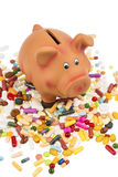 Tablets and piggy bank Royalty Free Stock Photos