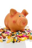 Tablets and piggy bank Royalty Free Stock Photography