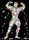 Tablets Pills Bodybuilder Stock Photos