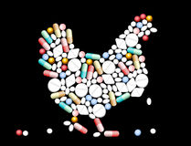 Tablets Pills Hen Stock Image