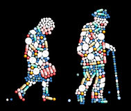 Tablets Pills Old People Royalty Free Stock Photography