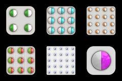 Tablets set Stock Image